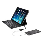 Kensington  KeyFolio Thin X3  Plus Polycarbonate Keyboard and Cover Case for iPad Air 2, Black (K97389US )