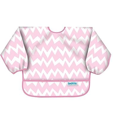 Bumkins Sleeved Bib, Pink Chevron