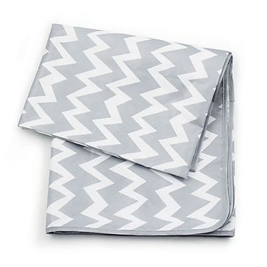 Bumkins Splat Mat, Grey Chevron