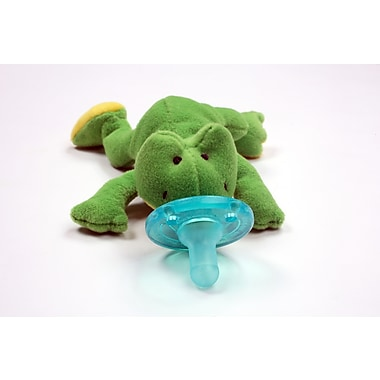 WubbaNub Infant Pacifier, Green Frog