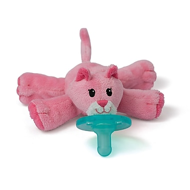 WubbaNub Infant Pacifier, Pink Cat