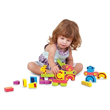 Edushape Animal Mix 'N Match, 46 Foam Pieces