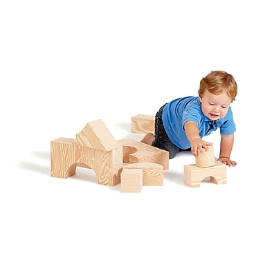 Edushape Big Wood like Blocks, 2-3/4