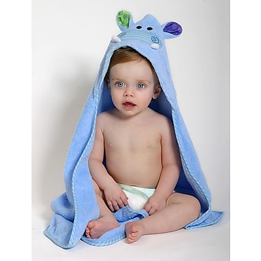 Zoocchini Baby Towel, Henry the Hippo