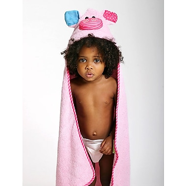 Zoocchini Baby Towel, Pinky the Piglet