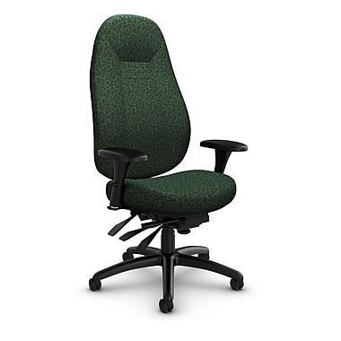 Global – Fauteuil ObusForme Comfort, dossier haut, basculements multiples, « Oxygen-Verde », vert