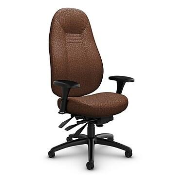 Global Obusforme Comfort High Back Multi Tilter, 'Oxygen-Chestnut' Fabric, Brown