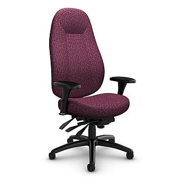 Global Obusforme Comfort High Back Multi Tilter, 'Oxygen-Wine' Fabric, Red