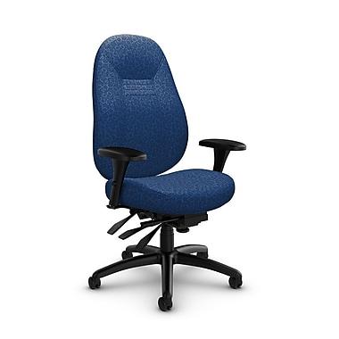 Global – Fauteuil ObusForme Comfort, dossier mi-dos à basculements multiples, tissu « Oxygen-Royal », bleu