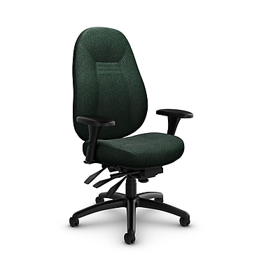 Global Obusforme Comfort Mid Back Multi Tilter, 'Time-Aqua' Fabric, Green