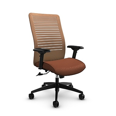 Global – Fauteuil Loover, doss. haut basc., tissus Match-Sunset/mailles Vue-Orange Sunset, orange