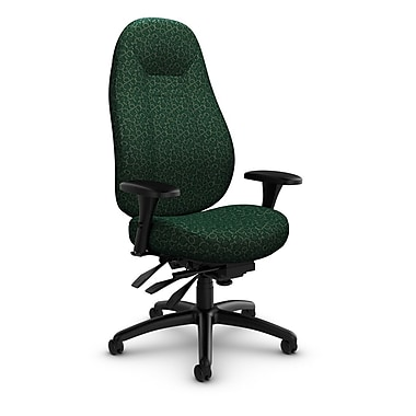 Global – Fauteuil ObusForme Comfort 24 heures, dossier haut, à basculements multiples, « Oxygen-Verde », vert