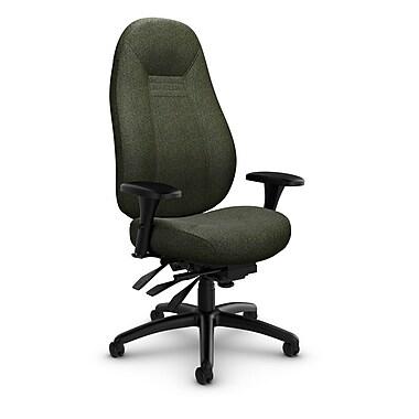 Global Obusforme Comfort 24 Hour High Back Multi Tilter, 'Time-Leaf' Fabric, Green