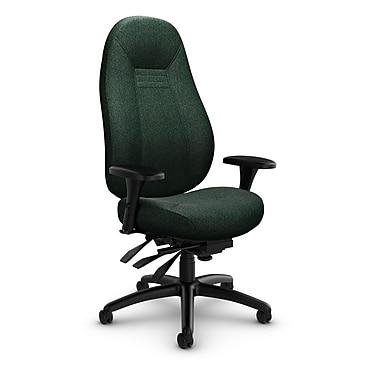 Global Obusforme Comfort 24 Hour High Back Multi Tilter, 'Time-Aqua' Fabric, Green