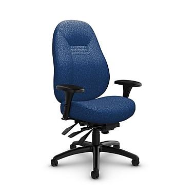 Global Obusforme Comfort 24 Hour Mid Back Multi Tilter, 'Oxygen-Royal' Fabric, Blue
