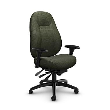 Global Obusforme Comfort 24 Hour Mid Back Multi Tilter, 'Time-Leaf' Fabric, Green