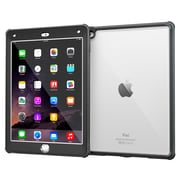 rOOCASE Glacier Tough TPU Armor Case Cover for iPad Air 2, Granite Black