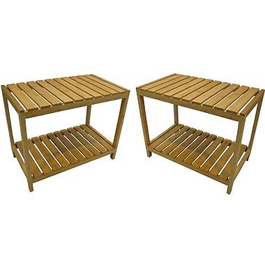 Cathay Importers Bamboo Rectangular Storage Shelf, 23.5