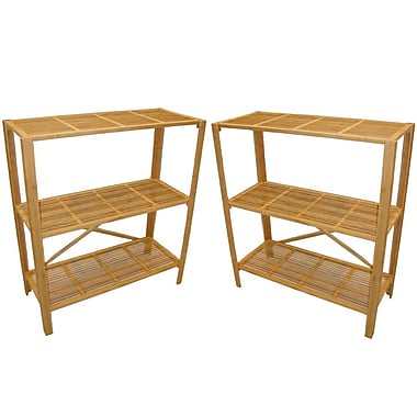 Cathay Importers Bamboo 3 Shelf Storage Stand, 31.5