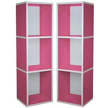Cathay Importers Pink Triple Cube Plus Storage Shelf, 13.5