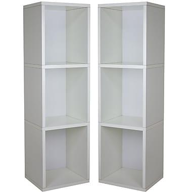 Cathay Importers White Triple Cube Plus Storage Shelf, 13.5
