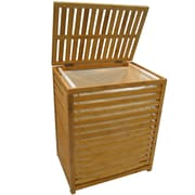 "Cathay Importers Bamboo Rectangular Laundry Hamper with Lining, 19.5""W x 14""D x 23.5""H"