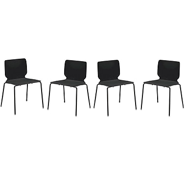 Cathay Importers Luisana Modern Chair, Black, 4/Pack