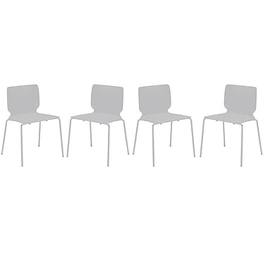 Cathay Importers Luisana Modern Chair, White, 4/Pack
