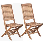"""Cathay Importers Acacia Wood Side Chair, 19""""W x 19.5""""D x 41.5""""H, 2/Pack"""