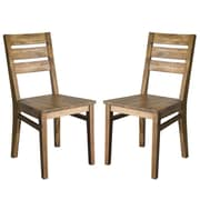 "Cathay Importers Acacia Wood Seat Dining Side Chair, 17.5""W x 23""D x 36""H, 2/Pack"