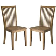 "Cathay Importers Acacia Wood High Back Dining Side Chair, 17.5""W x 23""D x 39""H, 2/Pack"