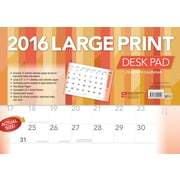 2016 LARGE PRINT DESK PAD