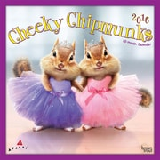 "2016 BrownTrout Publishing Fun and Humor 12"" x 12"" Square Avanti - Cheeky Chipmunks (9781470000000)"