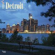 2016 Browntrout Publishers American Cities12x12 Square Detroit (9781470000000)