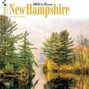 "2016 BrownTrout Publishing American States 12"" x 12"" Square New Hampshire, Wild & Scenic (9781470000000)"