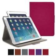 rOOCASE Orb Leather 360deg Rotating Folio Smart Case for Use with iPad Air 2, Magenta