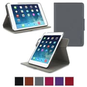 rOOCASE Orb Leather 360 Deg Rotating Dual-View Folio Smart Case Cover for iPad Mini with Retina Display, Gray