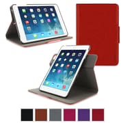 rOOCASE Orb Leather 360 Deg Rotating Dual-View Folio Smart Case Cover for iPad Mini with Retina Display, Red