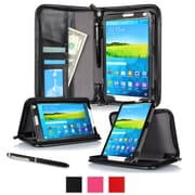 "rOOCASE Leather Executive Portfolio Smart Case for 8.4"" Samsung Galaxy Tab S, Black"