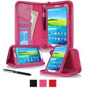 "rOOCASE Leather Executive Portfolio Smart Case for 8.4"" Samsung Galaxy Tab S, Magenta"