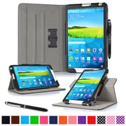 "rOOCASE Leather Dual-View Folio Smart Case Cover for 8.4"" Samsung Galaxy Tab S, Black"