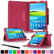 "rOOCASE Leather Dual-View Folio Smart Case Cover for 8.4"" Samsung Galaxy Tab S, Magenta"