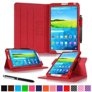 "rOOCASE Leather Dual-View Folio Smart Case Cover for 8.4"" Samsung Galaxy Tab S, Red"