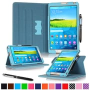 "rOOCASE Leather Dual-View Folio Smart Case Cover for 8.4"" Samsung Galaxy Tab S, Blue"