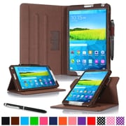 "rOOCASE Leather Dual-View Folio Smart Case Cover for 8.4"" Samsung Galaxy Tab S, Brown"