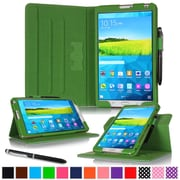 "rOOCASE Leather Dual-View Folio Smart Case Cover for 8.4"" Samsung Galaxy Tab S, Green"