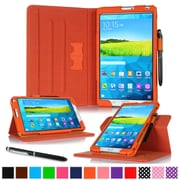 "rOOCASE Leather Dual-View Folio Smart Case Cover for 8.4"" Samsung Galaxy Tab S, Orange"