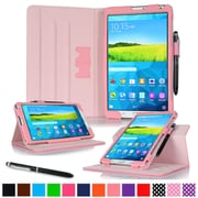 "rOOCASE Leather Dual-View Folio Smart Case Cover for 8.4"" Samsung Galaxy Tab S, Pink"