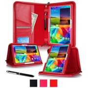 "rOOCASE Leather Executive Portfolio Smart Case for 10.5"" Samsung Galaxy Tab S, Red"