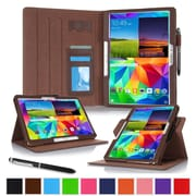 "rOOCASE Leather Dual-View Folio Smart Case Cover for 10.5"" Samsung Galaxy Tab S, Brown"